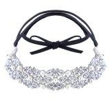 Ювелирные изделия ожерелья чокеровщика ворота диаманта Rhinestone перлы смычка способа
