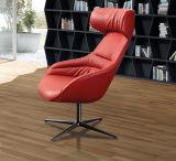 Chaise pivotante en cuir colorée moderne confortable