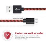 고속 2.1A는 비용을 부과 마이크로 USB 케이블 아마존을%s 단식한다