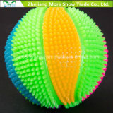 Sondagem piscante Light-up Spiky Puffer Massaging Brinquedos de basquete
