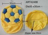 노란과 파랑에 있는 의자 덮개 축구
