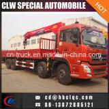 Camion de grue de Hotsales 8X4 Dongfeng 8ton Kuckle avec la grue