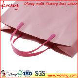 Saco de mão de papel luxuoso feito sob encomenda com do punho plástico dos punhos dos PP o saco de papel/PP
