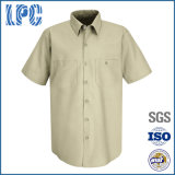 Soem-Stickerei-Form-industrielles kurzes Hülsen-Arbeits-Hemd