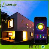 WiFi controlou a cor de E26 9W que muda o bulbo esperto do diodo emissor de luz com Controlor remoto