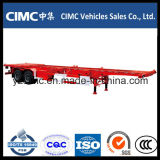 Cimc 40FT 2 Axle 65ton Port контейнера стержня трейлер Semi