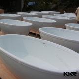 Vasca da bagno di superficie solida di disegno caldo di pietra moderno