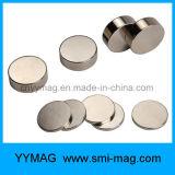 Магнит неодимия редкой земли диска сильных магнитов миниый серебряный круглый