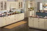 Gabinetes de cozinha italianos da madeira contínua do estilo com bancada de quartzo