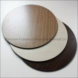 Dessus rond extérieur phénolique solide de table basse de HPL dans la couleur en bois