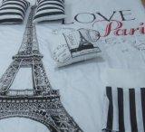 Torre del hierro de París - Comforterset de la microfiber 7PCS