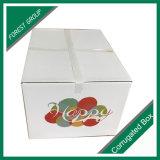 Doos die van het Karton van de geveltop de Vorm Golf de Verse Droge Doos van het Fruit verpakken