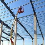 Almacén de acero ligero de la construcción con la columna concreta