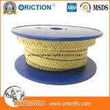 Embalagem de glândula trançada da fibra PTFE Kevlar de Aramid da embalagem de PTFE