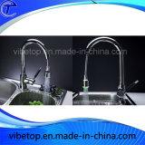 Singolo rubinetto all'ingrosso del dispersore di cucina della maniglia dell'acciaio inossidabile (KF-01)