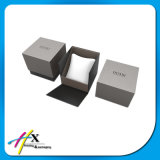 Rectángulo de regalo de papel personalizado del reloj con la almohadilla