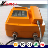 防水電話LCD金属のキーパッドKnsp-18LCD Kntechの頑丈な電話