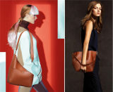 Sacola / Bolsa para balde de couro para desenhador de moda