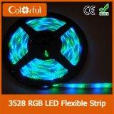 luz de tira impermeável do diodo emissor de luz de 120LEDs/M DC12V SMD3528
