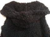 Ropa de la piel de la falsificación de las mujeres con capucha, ropa