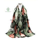 Neuer Entwurfs-Schal gedruckte Basisrecheneinheits-Satin-Silk Form-Dame Scarf