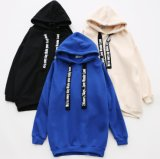 Madame en gros Oversized Fashion Brand Long Hoody sans poches