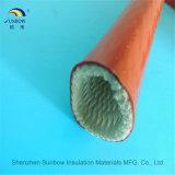 Manicotto Braided del fuoco del E-Vetro con la gomma di silicone rossa della vetroresina