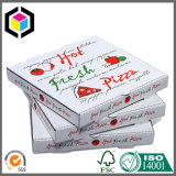 Vario rectángulo de empaquetado de la pizza del papel acanalado de Kraft de la talla