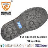 Fábrica de zapatos de trabajo calificada de seguridad del cuero genuino en Guangzhou