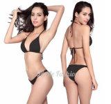 Preiswerter Großhandelspreis irgendwelche Farben, die Abnützung-Badeanzug-Bikini schwimmen