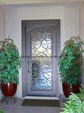 カスタム住宅エントリ単一の葉の機密保護の鉄の鋼鉄ドア