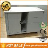 Büro-Schrank-Möbel mit Schiebetür-/Tambour Tür-Aktenschrank/beweglichem Transportgestell-Stahluntersatz