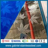 Prix décoratif Polished de feuille d'acier inoxydable de miroir de la catégorie comestible 316L