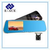 Automóvel do gravador de vídeo do espelho de opinião traseira da câmara digital carro DVR de 4.3 polegadas