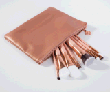 La bolsa de cuero de lujo de 8 piezas pincel de maquillaje cosmético
