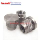Noix moletées d'acier inoxydable de constructeur de Shenzhen