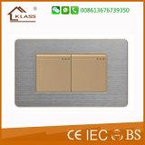 ホームのためのブラシをかけられたステンレス鋼の調光器スイッチ使用