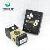 Caixa de presente de empacotamento do cartão revestido parcial da tela