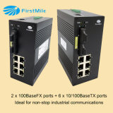 8 puertos de switch Industrial Ethernet switch PoE