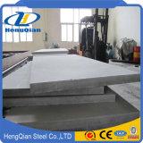 Placa de acero inoxidable laminada en caliente del espesor de 5m m a de 10m m