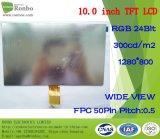"""10.1 """" панелей LCD тетради 1024*600 RGB 50pin подгонянных 300CD/M2 тонких"""