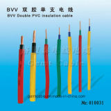 Solo cable de la cuerda del aislante doble del PVC (BVV)