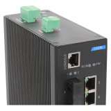 Interruptor de red Industrial Ethernet con 2 Gigabits SFP