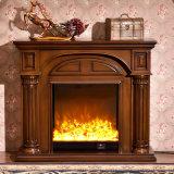 Mantel en bois de cheminée de salle de séjour européenne de Home Depot à vendre (GSP14-003)