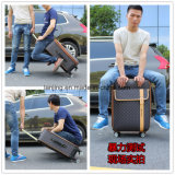 Trolley Case Suitcase Casters 20/24/26 Inch Password Box Leather Luggage