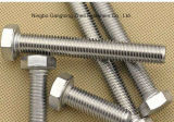 Болты с шестигранной головкой Ss304 DIN933 польностью продетые нитку тяжелые