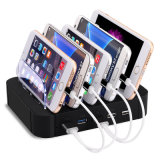Заряжатель 5 портов USB зарядной станции 5 шлицев для мобильного телефона таблетки