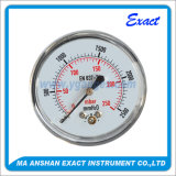 고급장교에 의하여 크롬 도금을 하는 압력 측정하 자연적인 가스형태 압력 측정하 빈 압력 계기