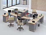 Hölzerner MDF-Büro-Partition-Block-Sekretärin-Personal-Arbeitsplatz (HX- NCD074)