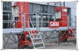 Plataforma de funcionamiento de la sección eléctrica del mástil de Gaoli que sube para el edificio